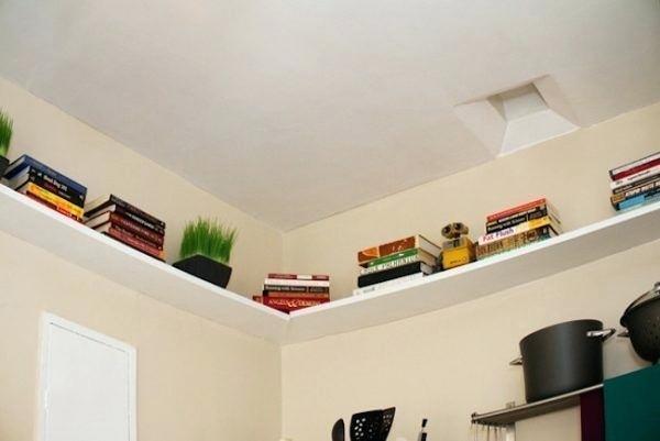 ceiling shelving