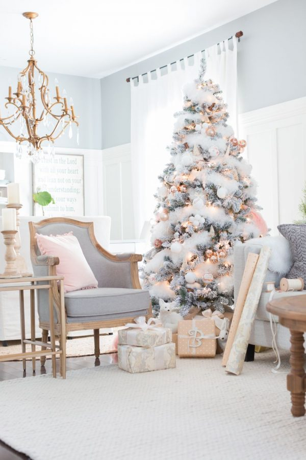 rose gold christmas themes