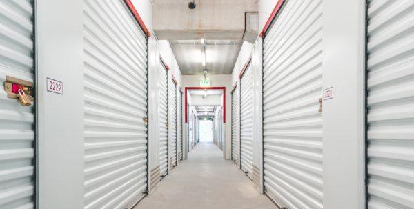 A storage facillity hallway
