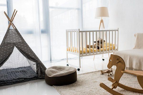 A minimalist nursery room