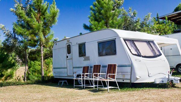 A caravan parked